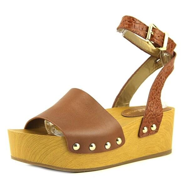 6f4dbdd1f73f80 Shop Sam Edelman Brynn Women Open Toe Leather Brown Platform Sandal ...