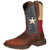 Durango Western Boots Mens Rebel Patriotic Pull On Dark Brown