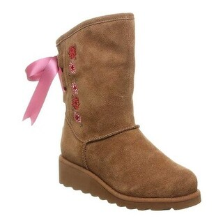 Bearpaw Girls' Carly Bootie Hickory II Cow Suede