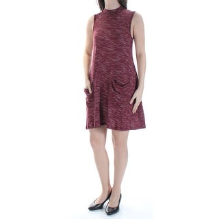 ULTRA FLIRT $18 Womens New 1160 Maroon Pocketed Shift Dress S Juniors B+B