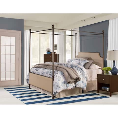 Copper Grove Kaoma Queen Metal and Upholstered Canopy Bed
