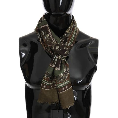 Dolce & Gabbana Green Carretto Teatro die Pupi Men's Scarf - One Size
