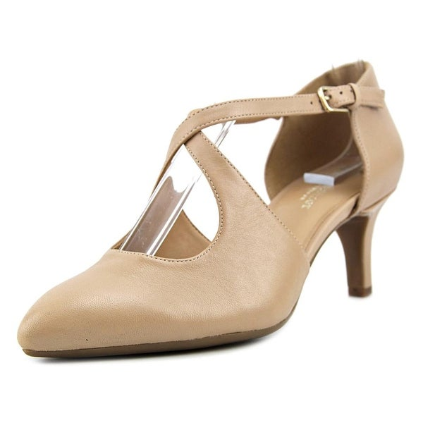 Naturalizer Okira Women W Pointed Toe Leather Tan Heels