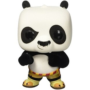 Kung Fu Panda Flocked Po Pop! Vinyl Figure - EE Exclusive - Multi-Colored