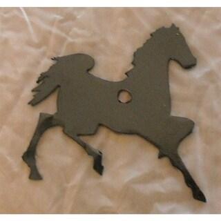 "Prancing Horse Metal Silhouette - Size - 3"" width - Color - Black"