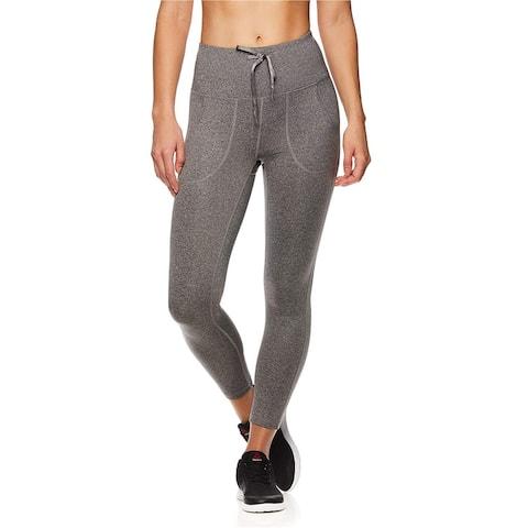 Reebok Womens Momentum Capri Compression Athletic Pants