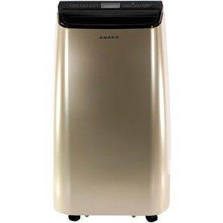 Amana AMAP101AD 10,000 BTU Portable Air Conditioner with Remote Control in Gold/Black - GOLD