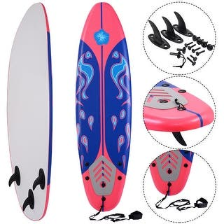 Costway 6' Surfboard Surf Foamie Boards Surfing Beach Ocean Body Boarding Red|https://ak1.ostkcdn.com/images/products/is/images/direct/dd63bd4c7550f8779a231353326640dab85bc3ef/Costway-6%27-Surfboard-Surf-Foamie-Boards-Surfing-Beach-Ocean-Body-Boarding-Red.jpg?impolicy=medium