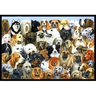 Carolines Treasures BDBA0441MAT Fifty One Dogs Indoor or Outdoor Mat 18 x 27