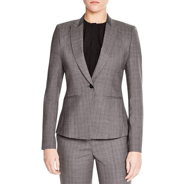 1333b5dc7d Shop BOSS Hugo Boss Womens Janeka4 One-Button Suit Jacket Wool Peak Collar  - Free Shipping Today - Overstock - 16735081