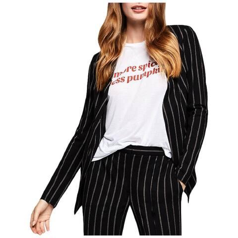 BCBGeneration Womens Collarless Blazer Striped Office