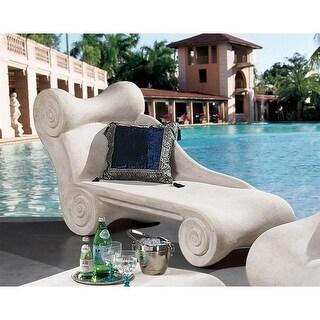 Design Toscano Hadrian's Villa Roman Spa Furniture Collection: Chaise Longue