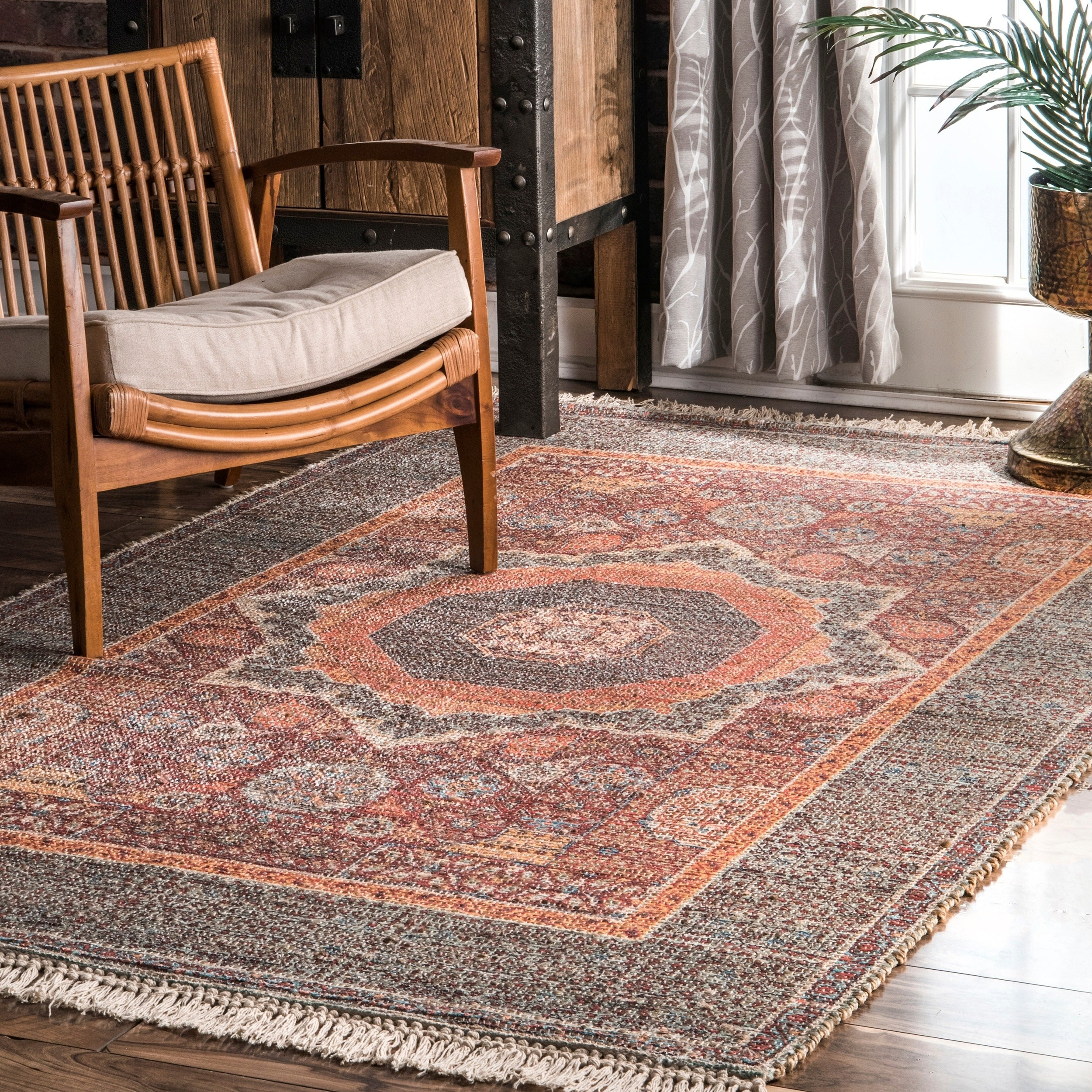 Shop For Nuloom Flatweave Traditional Vintage Medallion Tassel Jute Blend Efrain Area Rug Get Free Delivery On Everything At Overstock Your Online Home Decor Store Get 5 In Rewards With Club O 28135727