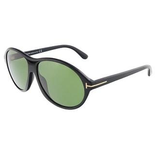 Tom Ford FT0398/S 01N TYLER Shiny Black Oval sunglasses