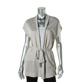 Jones New York Womens Knit Ribbed Trim Cardigan Top - S