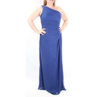 Womens Blue Sleeveless Full Length Empire Waist Casual Dress Size: 12