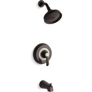 Kohler K-TS12007-4E  Fairfax Single Handle Tub and Shower Trim Only with Metal Lever Handle, 2.0 GPM Single Function Shower