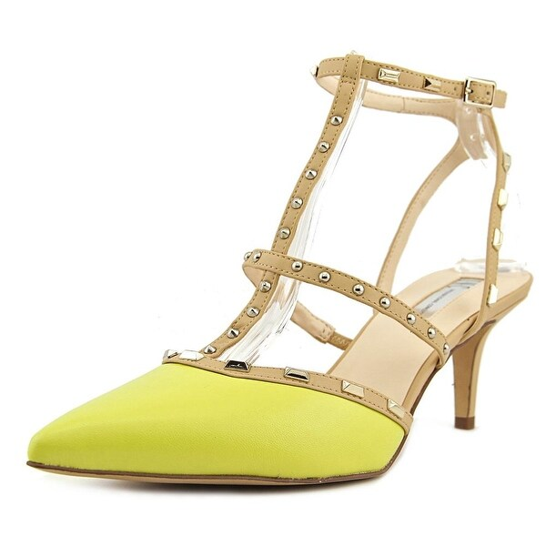 INC International Concepts Carma Women Synthetic Yellow Slingback Sandal