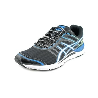 Asics Gel Storm Men Round Toe Canvas Black Running Shoe