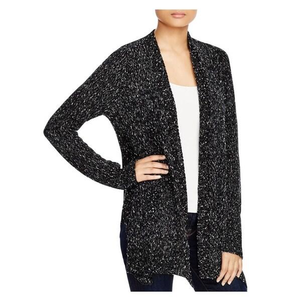 Karen Kane Womens Cardigan Sweater Open Front Marled