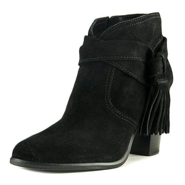 Vince Camuto Fianna Women Round Toe Suede Black Bootie