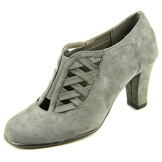 Aerosoles Head Role Women  Round Toe Canvas Gray Heels