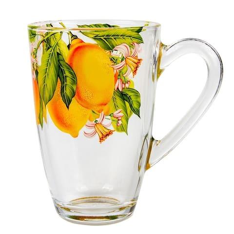 STP Goods 11 fl oz Juicy Lemons Tea Coffee Glass Mug