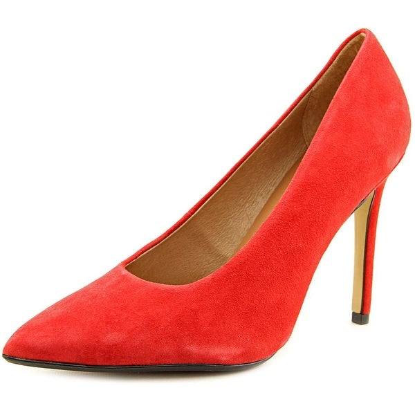 Nina Refine Women Pointed Toe Suede Red Heels