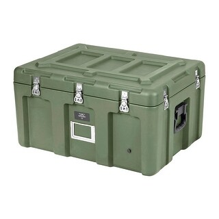 Monoprice Rotomolded Weatherproof Case Green 29 X 21 X 16 Inches Stackable With Customizable Foam Pure Outdoor Collection