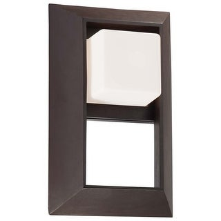 """The Great Outdoors 72342-615B 1 Light 13"""" Height Outdoor Wall Sconce from the Casona Square Collection"""