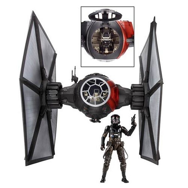 "Star Wars 6"" Black Series Deluxe First Order TIE Fighter Vehicle with Pilot - multi"