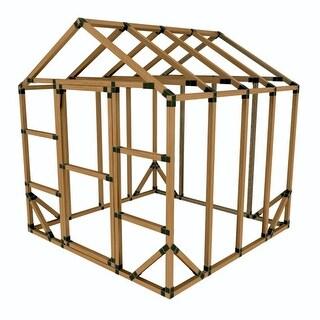 8X8 E-Z Frame Greenhouse or Storage Shed Kit - Black
