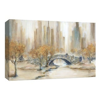 "PTM Images 9-148288  PTM Canvas Collection 8"" x 10"" - ""Central Park"" Giclee Silhouettes Art Print on Canvas"