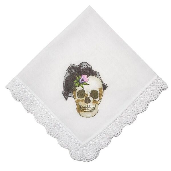 Swanky Female Skull Graphic Cotton Handkerchief (Set of 1 or 2)
