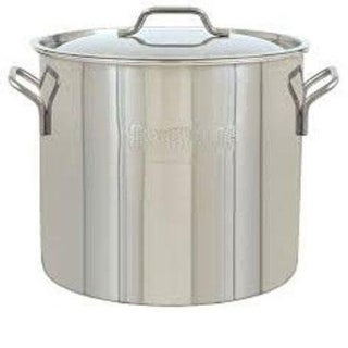 Bayou Classic 1430 30 Quart Economy Brew Kettle - STAINLESS STEEL