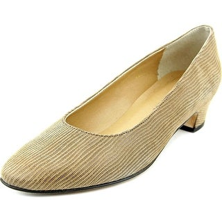 Vaneli Joyce Women Round Toe Suede Brown Heels