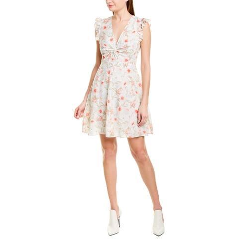 Rebecca Taylor Kamea Silk-Blend A-Line Dress