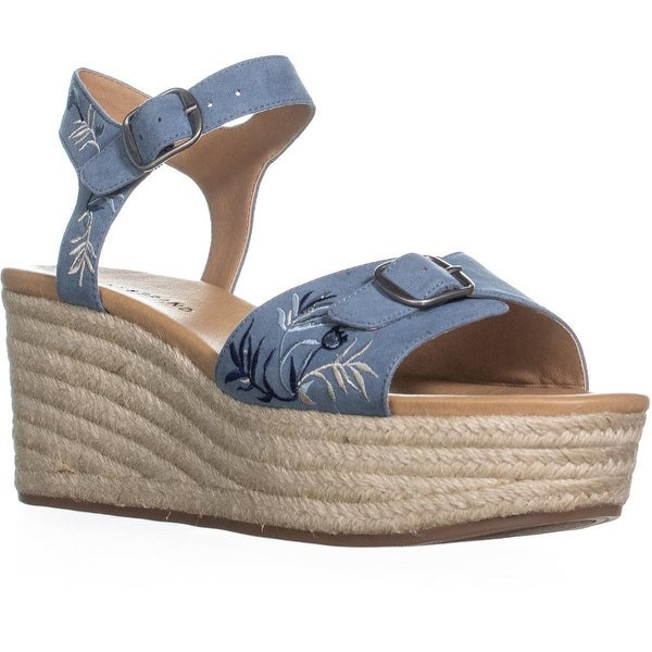 7cf1fc780ec3 Shop Lucky Brand Naveah2 Embroidered Wedge Sandals