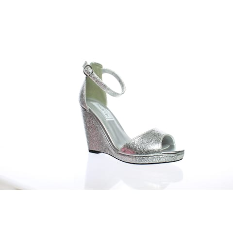 b7024ceb7 Touch Ups Womens Holly Silver Ankle Strap Heels Size 5