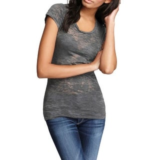 Alternative Apparel Womens Casual Top Stretch Burnout - m