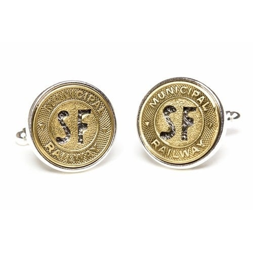 San Francisco Subway Token Cufflinks Coin Collector Memorbilla