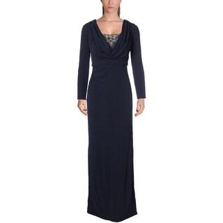 David Meister Womens Evening Dress Matte Jersey Embellished