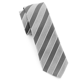 Men's Black and Grey Tie