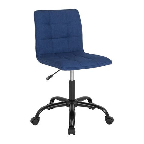 Offex Home and Office Contemporary Adjustable Task Chair in Blue Fabric