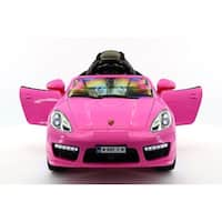 Moderno Kids Kiddie Roadster 12V Kids Electric Ride-On Car with R/C Parental Remote - Pink