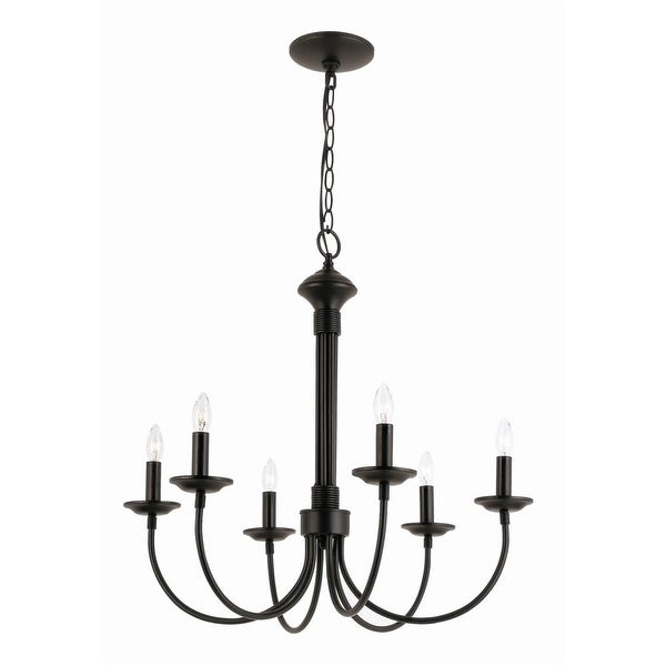 Trans Globe Lighting 9016 Traditional Six Light Up Lighting Chandelier from the New Century Collection