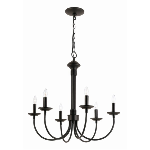 Trans Globe Lighting 9016 Traditional Six Light Up Lighting Chandelier from the New Century Collection - n/a