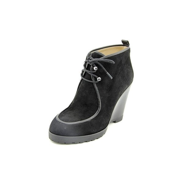Michael Kors NEW Black Women's Shoes Size 9.5M Beth Wedge Bootie