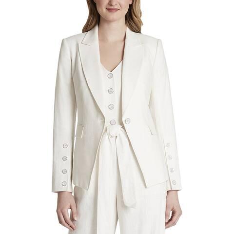 Tahari Asl Linen-Blend Jacket