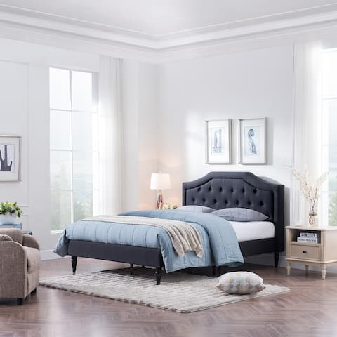 Garrett Queen Size Upholstered Bed by Christopher Knight Home